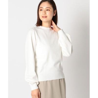 【ミューズ リファインド クローズ】 ボウタイ後リボン2wayボトルニット レディース シロ M MEW'S REFINED CLOTHES