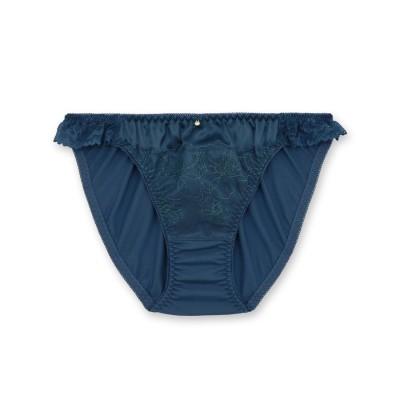 フランデランジェリー fran de lingerie Elegance Satin エレガンスサテン コーディネートショーツ 【返品不可商品】(ブルーグリーン)