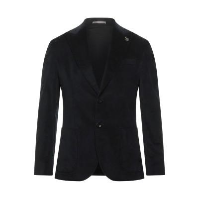パオローニ PAOLONI テーラードジャケット ブラック 46 コットン 97% / ポリウレタン 3% テーラードジャケット
