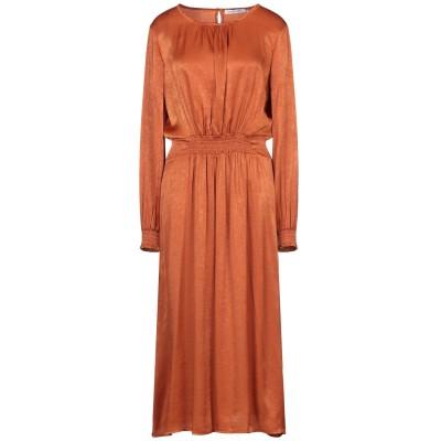 シルビアンヒーチ SILVIAN HEACH 7分丈ワンピース・ドレス 赤茶色 XS ポリエステル 100% 7分丈ワンピース・ドレス