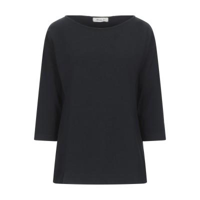 MAMA B. T シャツ ブラック L コットン 93% / ポリウレタン 7% T シャツ