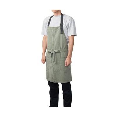 レップ 三角巾 グリーン 幅98×奥行85×高さ1cm メンズ仕様 カジオ ジップエプロン メンズ 470602