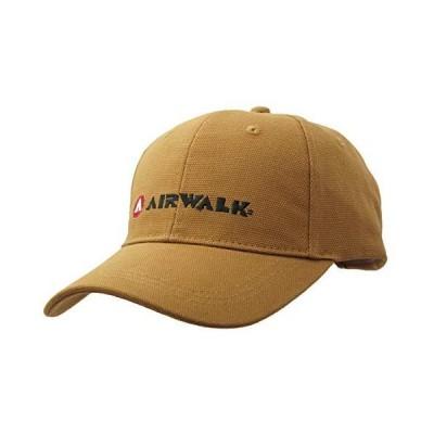 エアウォーク(AIRWALK) 男女兼用 ロゴ 刺繍 コットン 刺し子織り スポーツ キャップ AWC-92507 (ブラウン)
