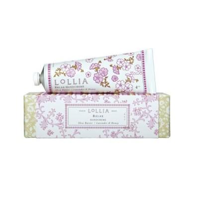 ロリア(LoLLIA) ハンドクリーム Relax 35g(手肌用保湿クリーム 蘭、ラベンダー、バニラとハニーの甘い香り)