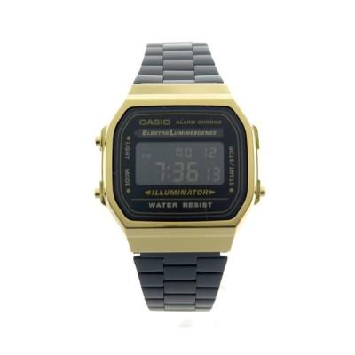 カシオ 腕時計 メンズ&レディース CASIO ブラック ゴールド