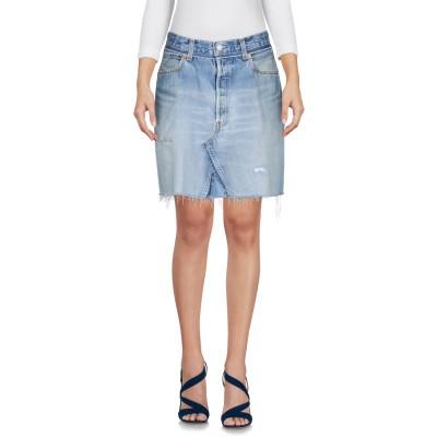 RE/DONE with LEVI'S デニムスカート ブルー 24 コットン 100% デニムスカート