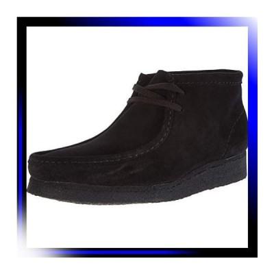 25.0 cm/ブラックスエード クラークス ブーツ ワラビーブーツ