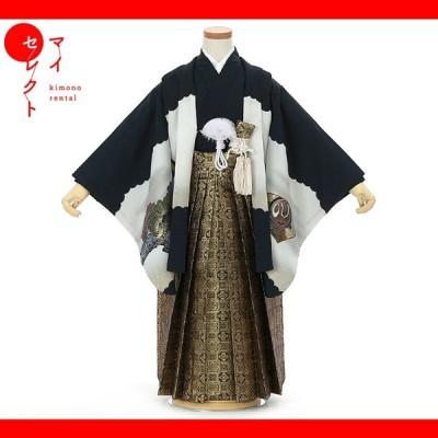 七五三 着物 5歳 男の子 レンタル 袴 扇子 草履 フォトブックプレゼント 753 msb5_0034