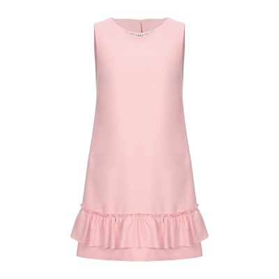 ブルーガール ブルマリン BLUGIRL BLUMARINE ミニワンピース&ドレス ピンク 44 ポリエステル 64% / レーヨン 34% /