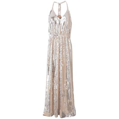 NORA BARTH ロングワンピース&ドレス ベージュ 42 ポリエステル 100% ロングワンピース&ドレス