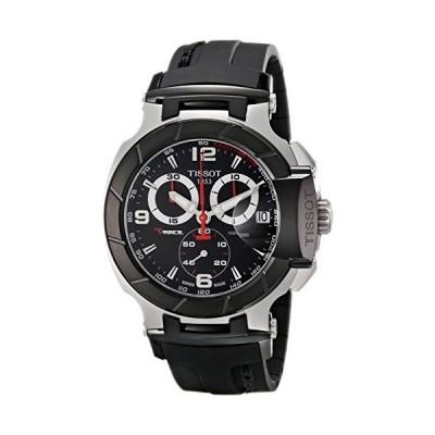 腕時計 ティソ メンズ T0484172705700 Tissot Men's T0484172705700 T-Race Black Chronograph Dial Watch