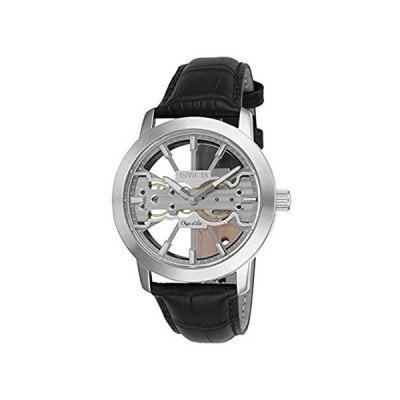 Invicta Men's Objet D Art Stainless Steel Mechanical Watch with Leather Str