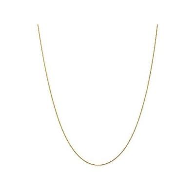 [新品]Solid 14k Yellow Gold .80mm Round Diamond-Cut Wheat Chain Necklace - with S