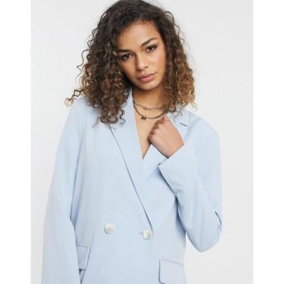 ベルシュカ レディース ジャケット・ブルゾン アウター Bershka oversized blazer in baby blue
