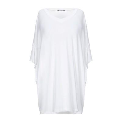 CRISTINAEFFE T シャツ ホワイト 42 レーヨン 94% / ポリウレタン 6% T シャツ