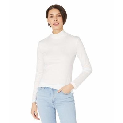 ラコステ シャツ トップス レディース Long Sleeve Solid Color Turtleneck Tee White