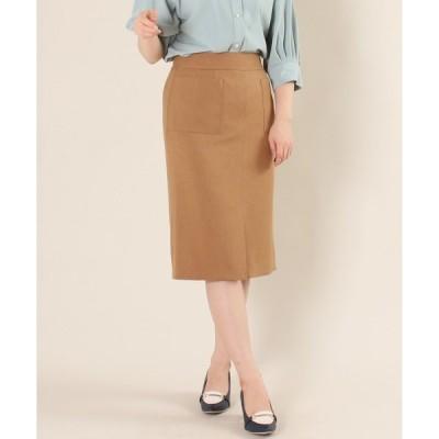 スカート 【日本製】機能素材 フロントポケットタイトスカート