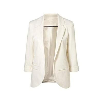 人気★Getupp テーラードジャケット レディース スリム イギリス風 リネン ジャケット スーツジャケット ショートブレザー サマージャケット 7