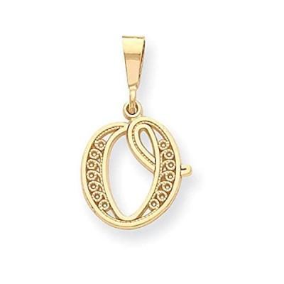 特別価格14K Gold Initial O Charm Jewelry FindingKing好評販売中