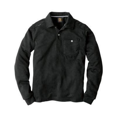 GLADIATOR 長袖ポロシャツ/G-9118 ブラック/5L