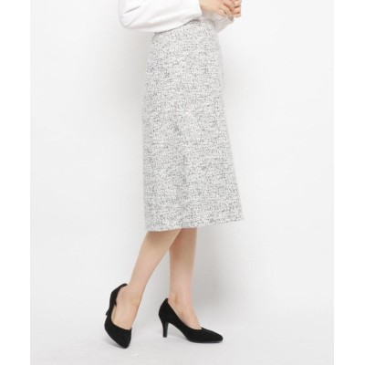【エッシュ】 スラブジャカードスカート レディース オフホワイト 42(L/ミセス) esche