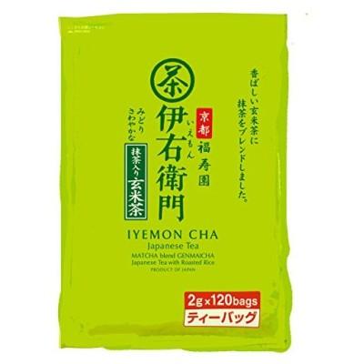 宇治の露 伊右衛門 抹茶入り玄米茶 ティーバッグ 2g×120P