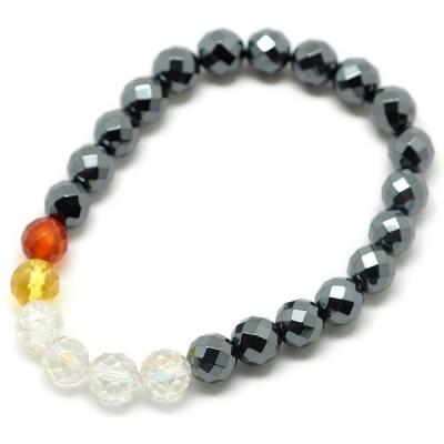[ウエンチズコレクション] UENCHS collection 天然石ブレスレット/ヘマタイト・アクア水晶他 BK2006004