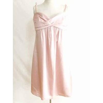 【中古】ビーシービージーマックスアズリア BCBGMAXAZRIA ドレス ワンピース チュニック Aライン リボン ピンク 8
