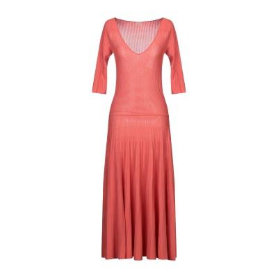 マーロ MALO 7分丈ワンピース・ドレス コーラル 42 コットン 100% 7分丈ワンピース・ドレス