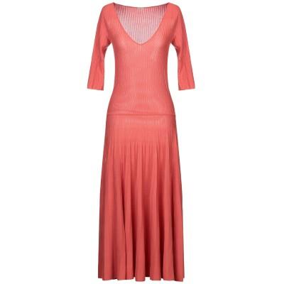 マーロ MALO 7分丈ワンピース・ドレス コーラル 38 コットン 100% 7分丈ワンピース・ドレス
