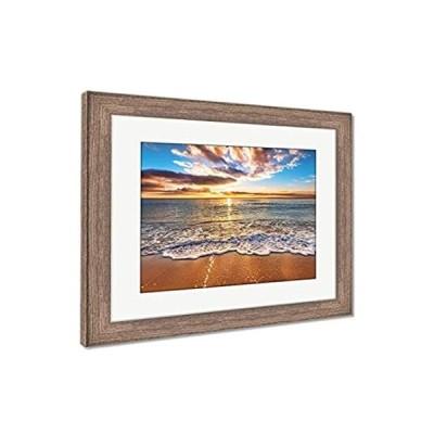 Ashley Framed Prints Colorful Ocean Beach Sunrise, Wall Art Home Decoration
