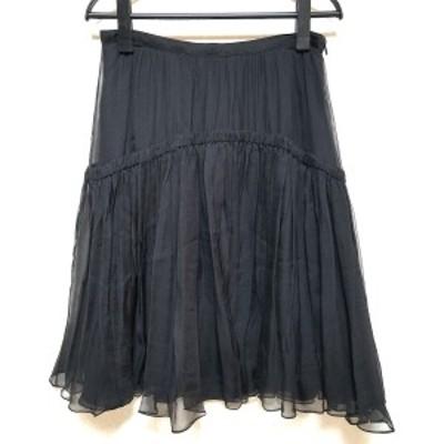 バーバリープローサム BURBERRY PRORSUM スカート サイズ42 L レディース 美品 黒【中古】20210320