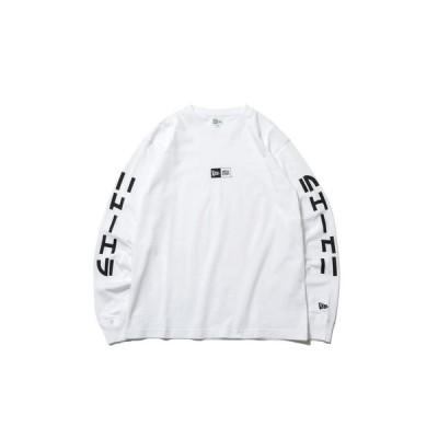 ニューエラ(NEW ERA) カタカナ ボックスロゴ レギュラーフィット コットン 長袖Tシャツ 12542695 (メンズ)