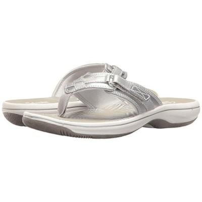 クラークス Breeze Sea レディース サンダル Silver Metallic