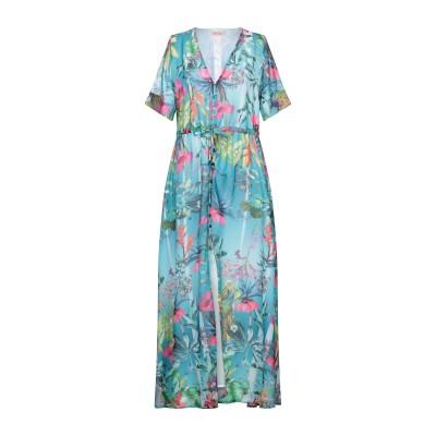 BLACK CORAL ロングワンピース&ドレス ディープジェード 40 ポリエステル 100% ロングワンピース&ドレス