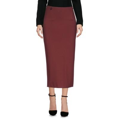 マニラ グレース MANILA GRACE 7分丈スカート ボルドー 40 レーヨン 75% / ナイロン 19% / ポリウレタン 6% 7分丈ス