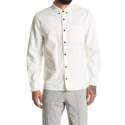ボールドウィンデニム メンズ シャツ トップス Wein Solid Long Sleeve Shirt WHIT