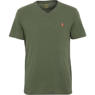 ラルフ ローレン POLO RALPH LAUREN メンズ Tシャツ Vネック トップス custom slim fit v-neck t-shirt Military green