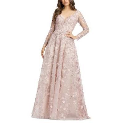 マックダガル レディース ワンピース トップス Embroidered Gown Rose Pink
