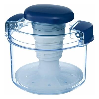 即席漬物容器 丸型 840ml ハイペット ミニレシピ付 日本製 簡易 漬物容器 リス R-10 クリアブルー
