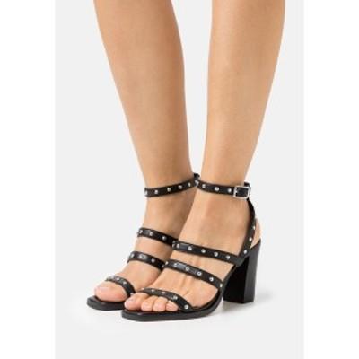 スティーブン ニューヨーク レディース サンダル シューズ RILEY - Sandals - black black