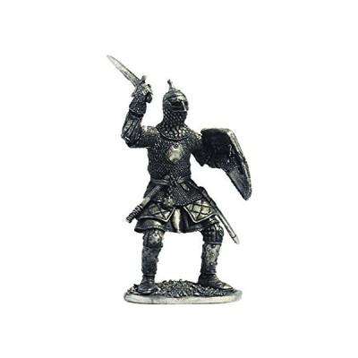 Military-historical miniatures Russian warrior 13-14 centuries Tin Metal 54mm Action Figures Toy Soldiers Size 1/32 Scale for Home D〓cor Ac