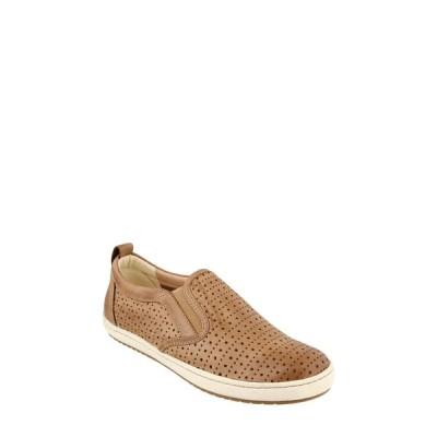 タウス スニーカー シューズ レディース Court Slip-On Sneaker Tan Leather
