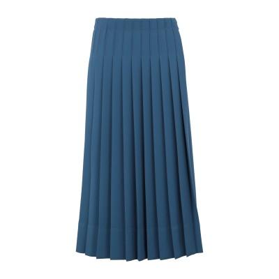 カルバン クライン CALVIN KLEIN 7分丈スカート ブルーグレー 38 ポリエステル 94% / ポリウレタン 6% 7分丈スカート