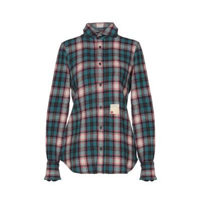 ディースクエアード DSQUARED2 シャツ ブルーグレー 38 ウール 73% / ナイロン 20% / 毛(アルパカ) 7% シャツ