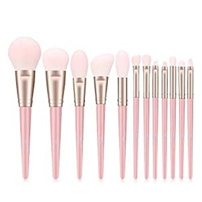 MSQ メイクブラシ 12本 ピンク メイクブラシセット 化粧筆 厳選した極細毛をたっぷり使用 超柔らかい 人気 化粧ブラシ 敏感肌適用 初心者 メークアップツール 美容ツール