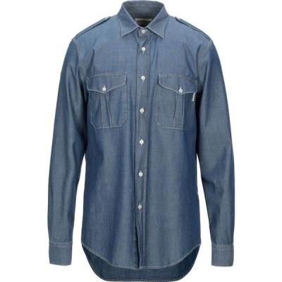 ロイロジャース ROY ROGER'S メンズ シャツ トップス Solid Color Shirt Dark blue