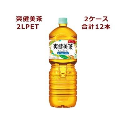 2ケースセット 爽健美茶 PET 2L 12本 メーカー直送のため代金引換発送・他の商品との同梱不可