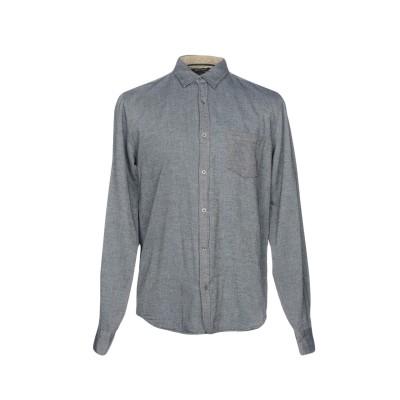 ギルデッドエイジ GILDED AGE シャツ ブルーグレー L コットン 100% シャツ