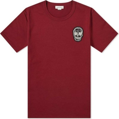 アレキサンダー マックイーン Alexander McQueen メンズ Tシャツ トップス Skull Print Tee Deep Cherry